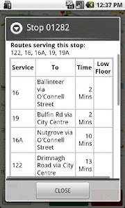 Dublin Bus GPS screenshot 1