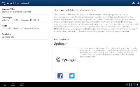 Journal of Material Science screenshot 6