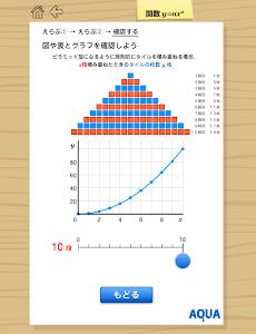 関数y=ax2 さわってうごく数学「AQUAアクア」 screenshot 7