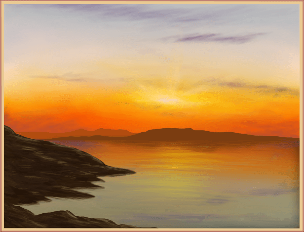 20 Drawn Sunset Horizon Pictures And Ideas On Meta Networks