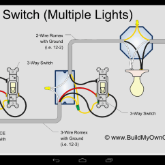 3 Way Switch Wiring Diagram 2 Switches Electrical Two Lights One Examples Myideasbedroom