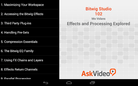 Course For Bitwig Interments screenshot 1
