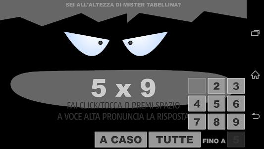 Mister Tabellina screenshot 1