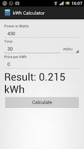 kWh Calculator Free screenshot 1
