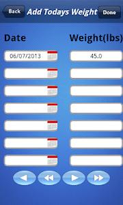 Weight Chart screenshot 2