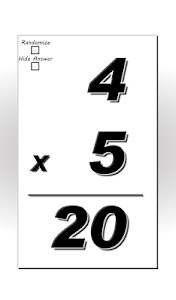 Multiplication Flash Cards screenshot 2