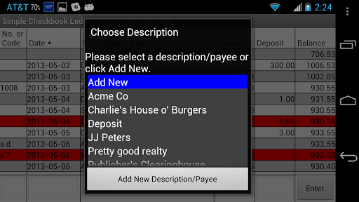 Simple Checkbook Ledger Free APK