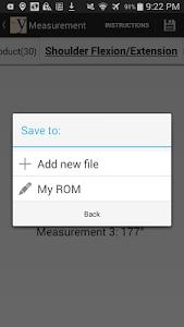 yROM Shoulder Elbow Goniometer screenshot 4