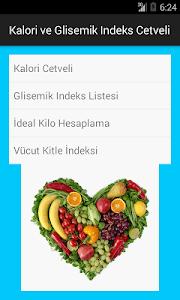 Kalori-Glisemik İndeks Cetveli screenshot 0