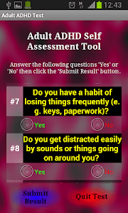 Adult ADHD Test screenshot 1