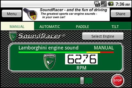 SoundRacer FREE Car Sounds screenshot 3