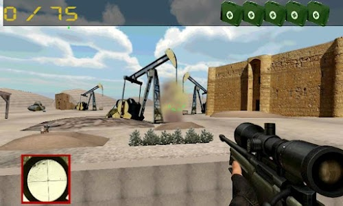 Sniper vs terrorism: oil war screenshot 1