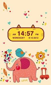 Cute Kitty Cat Clock Widget screenshot 1