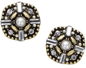 Retro Embellished Stud Earrings by Accessorize