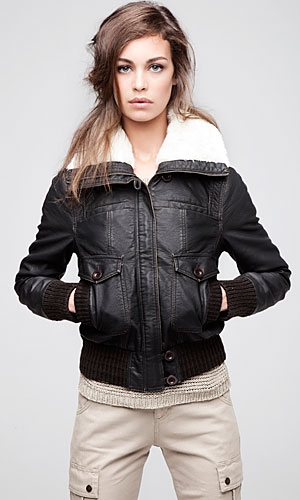 Rib Hem Aviator Jacket by Primark