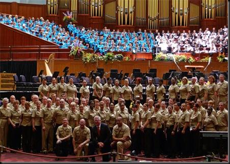 Glenn... Military Attorneys... Mormon Tabernacle Choir in SLC