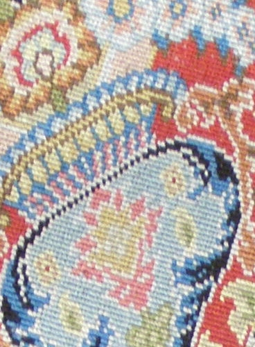 "Detail of the backside of the Hereke silken Carpet ""Tree of Life"""