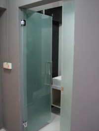 Frosted Glass Door For Common Toilet