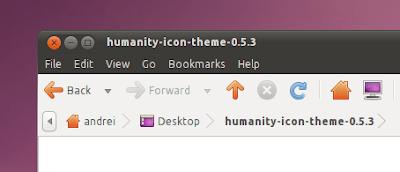 Humanity icon theme ubuntu 10.10 screenshot