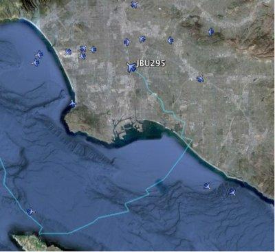 Vuelos en tiempo real en Google Earth