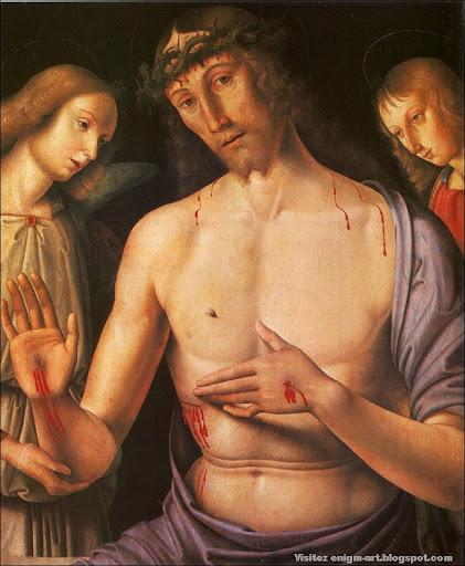 Giovanni Santi, Le Christ de Pitié, 1480.