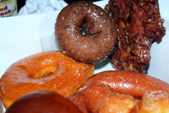Apple Fritter, Glazed, Chocolate Cake