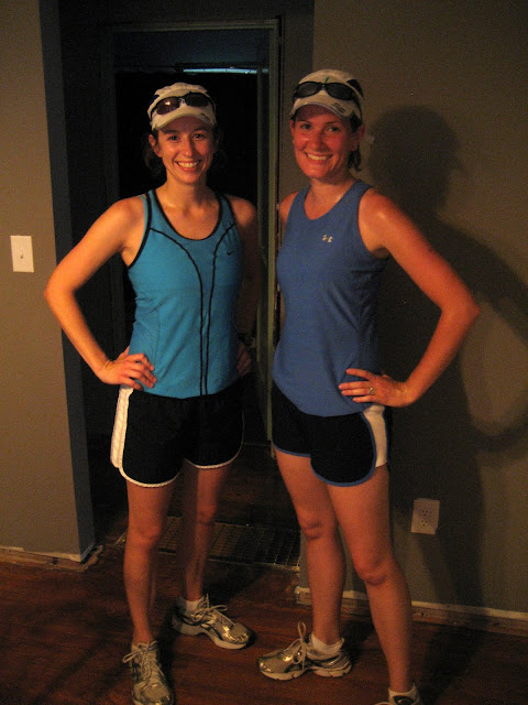 Robin and me after our long run. We match!