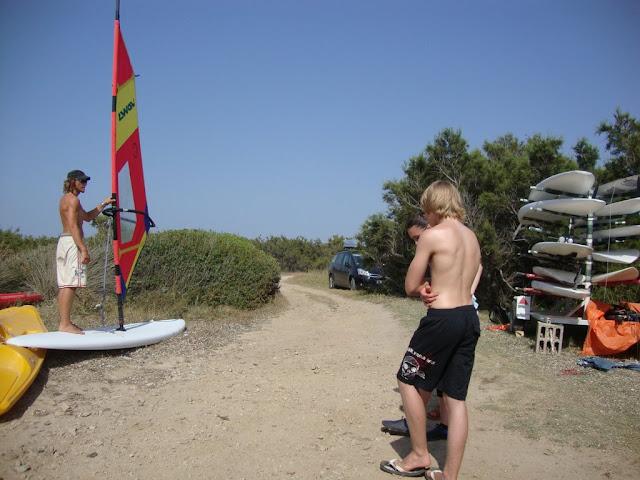 Surflehrer auf Sardinien 2009