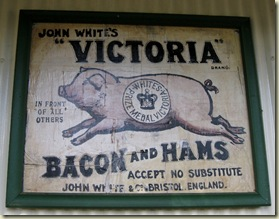 Victoria Bacon & Hams sign Pilgrims Rest Mpumalanga South Africa