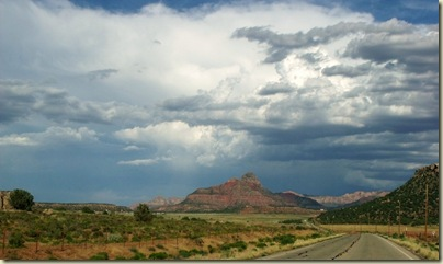 Storm building on the way home Hwy 389 east Arizona