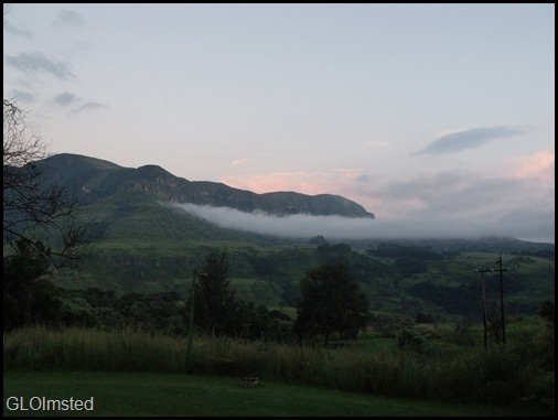 Sunrise from Monks Cowl camp Drakensburg South Africa