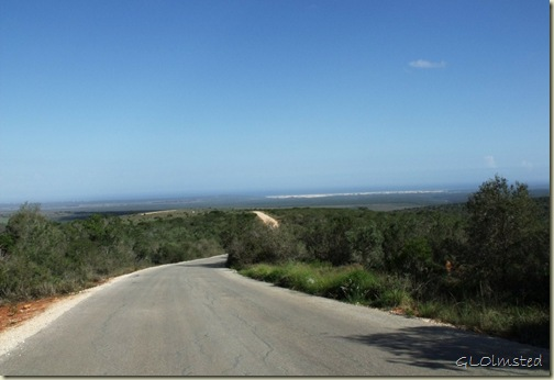 Indian Ocean view from drive through Addo Elephant National Park Eastern Cape South Africa