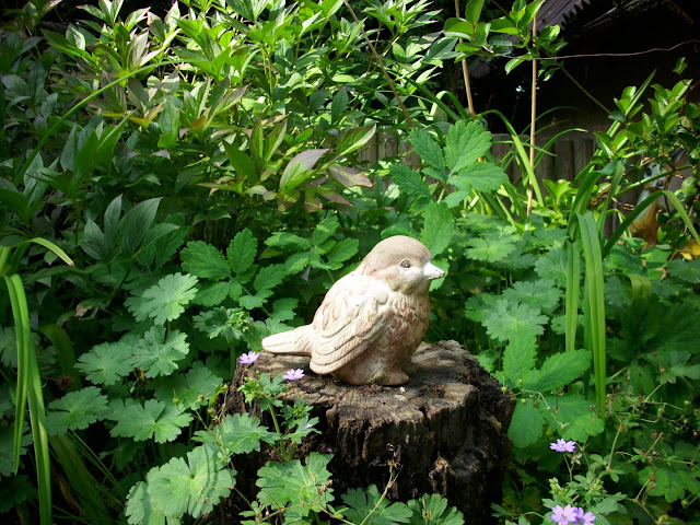 Gliniany ptaszek w Małym Zoo w Oliwie