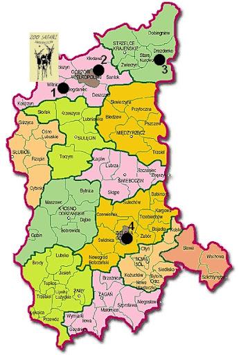 Zwierzyńce województwa lubuskiego