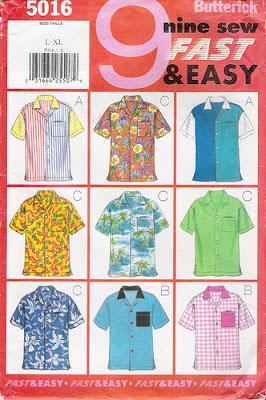 Camp Shirt Pattern : shirt, pattern, Shirt, Sewing, Pattern