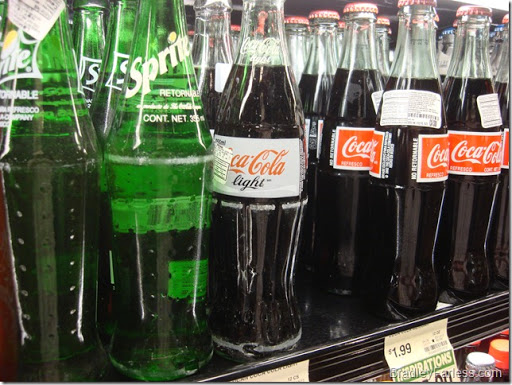 Re-used coke bottles in the US, Philippines style.