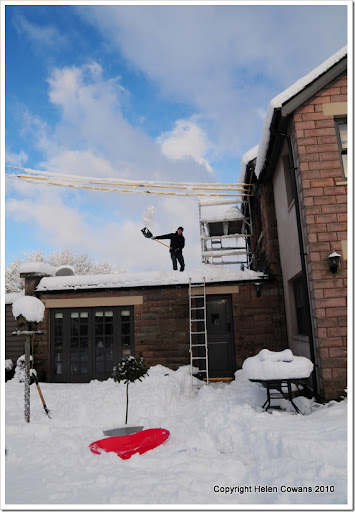 clearing roof