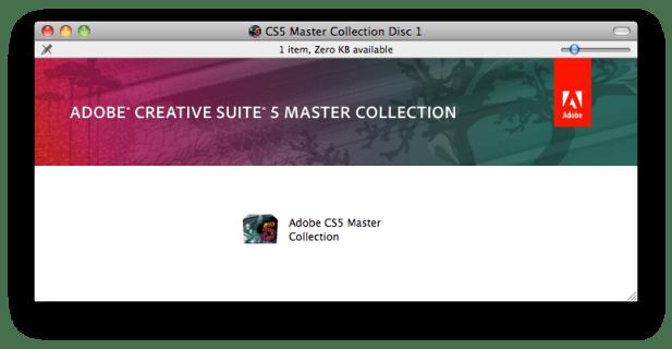 Adobe CS5 Master Collection Disc