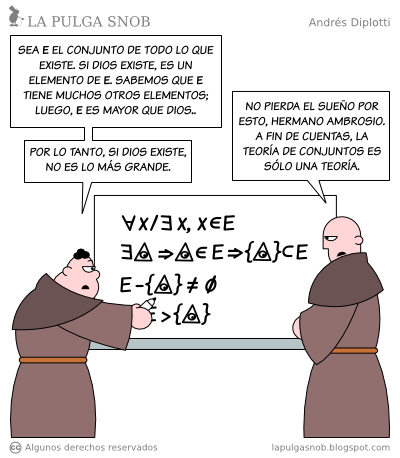 Monjes desarrollando un teorema