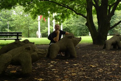 Me and the nature. Berlin. Big botanic gardens.