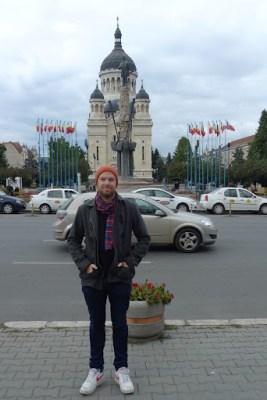 Near the main square in Cluje