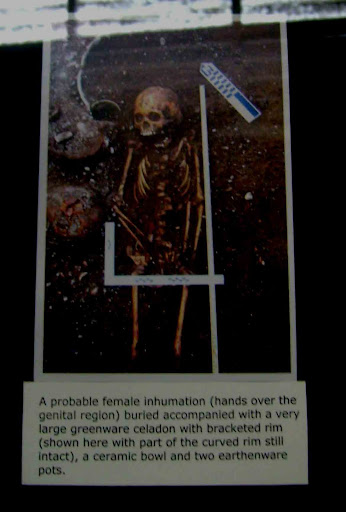 Picture taken of the remains of a prehispanic native.