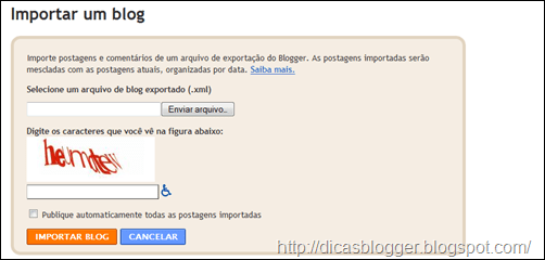 importar blog