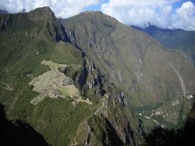 from the summit of Waynapicchu