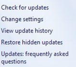 settings update