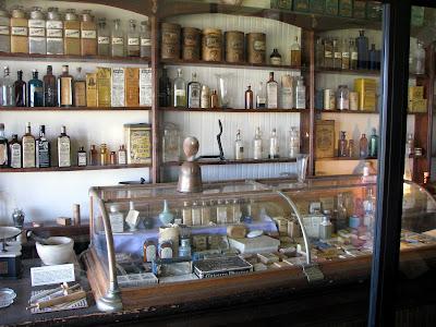 Old West drug store