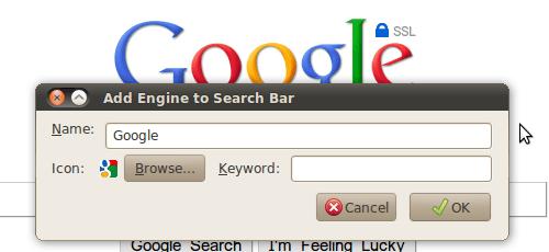 Firefox: Add to Search Bar