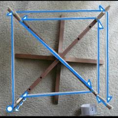Rigid Heddle Loom Diagram Pioneer Avh Radio Ausschalten Swift= Warping Board: Yarn Flow Diagram.   Undyedyarnpire's Fiber Opera