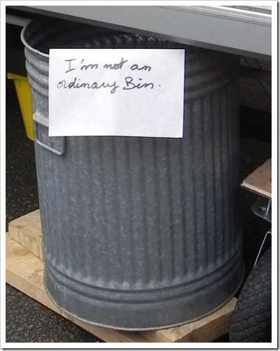 Not an ordinary bin!