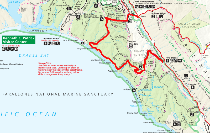 Farmhouse Olema Point Reyes Backpacking Itinerary – Sean++